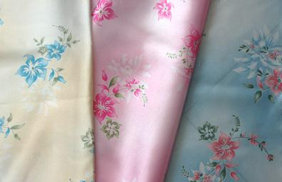 satin printed fabric