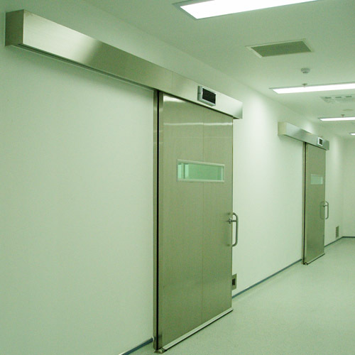 stainless steel automatic hermetically sealed sliding doors for operation theatres