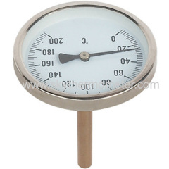 steel case bimetal thermometer
