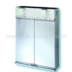 Double door cabinet mirror