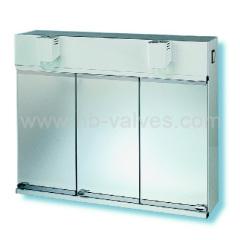 Three door cabinet mirror