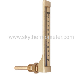 L shape industrial thermometer