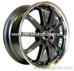 Chrome Black White Wheels