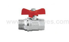 Steel handle brass ball valve