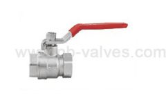 Red steel flat handle ball valve