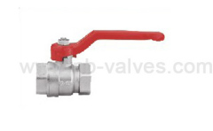 Bright brass ball valve