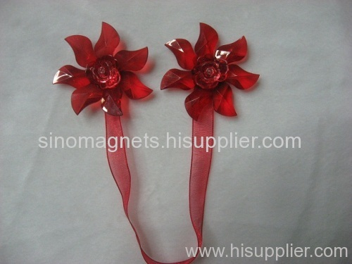 Acrylic Flower Magnetic Curtain Holder