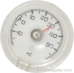 Plastic round bathtub thermometers