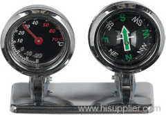 compass and thermometer