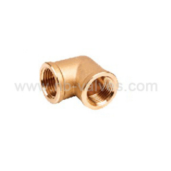 Female brass elbow fitting