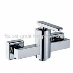 Square Bathroom Faucet In Good Chrome