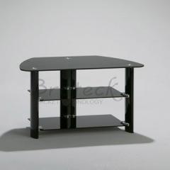 black shelf TV stand