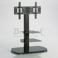 black glass stand