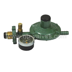 Pressure gas valve with meter