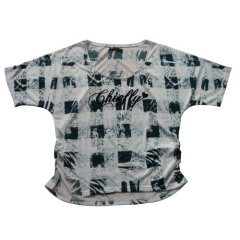women's checked t-shirt