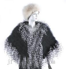 fashion ostrich feather shawl