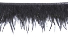 cock feather trim colored