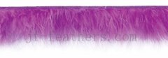 marabou feather lace colored