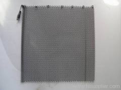 black fireplace mesh screen