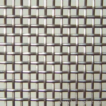 low carbon steel crimped wire mesh fence