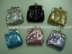 metallic cloth hand bag