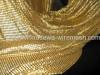 Golden cloth widly used as curtain or as accessories on hand bacg flexible enough