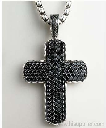 Men S Jewelry Cross Pendant 925 Silver Studded Jewelry Pave Chevron Double Sided Cross Pendant Manufacturer From China Jade Angel Jewelry Co Ltd