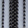 ball chain curtain gun metal black bead curtain