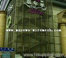 stainless steel mesh wall facade