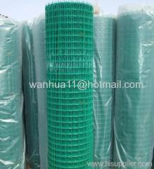 PVC coated welded wire mesh green