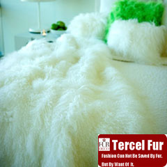 Mongolian Lamb Fur Throw