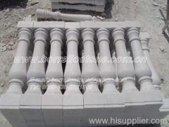 snow white marble handrail
