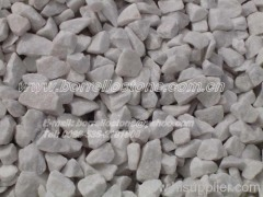 snow white marble chippings