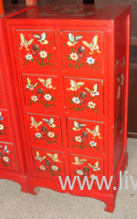 Antique painting CD cabinet