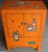 Antique reproduction painted cabinet