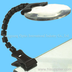 Bench clip magnifier