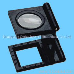 Linen tester magnifier with scale