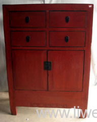 Old red cabinet