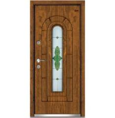 wood glass door