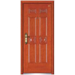 wooden armored door