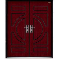 exterior wood steel door