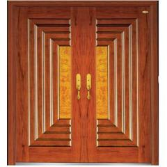 front door non standard wood steel door