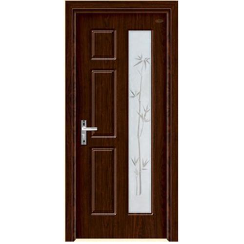 wood bathroom door
