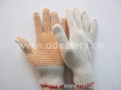 knitted with Pvc glove