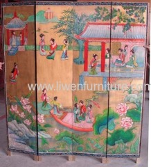 Chinese antique furniture screen