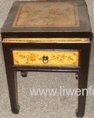 antique painting night stand