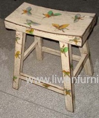 Asia antique paining stool