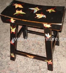 Antique oriental drawing stool
