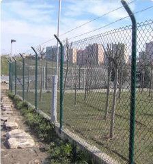 PVC Coated Chain Link Fencing With Barbed Wire