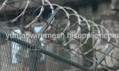 Galvanized Chain Link FenceWith Barbed/Razor Wires